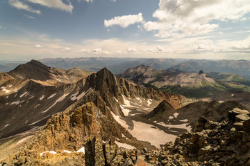 Fototapete - Colorado Rocky Mountain Summit.  View from the summit of Mt. Wilson, near Telluride.
