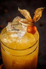 Iced orange juice