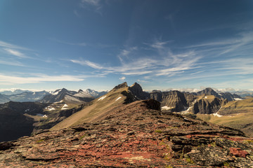 Fototapete - View of Mt. Siyeh, Glacier National Park, Montana