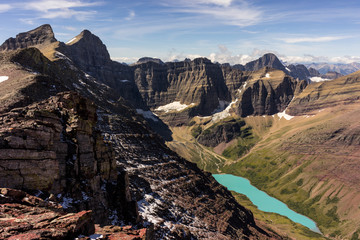 Fototapete - Mt. Siyeh & Cracker Lake, Glacier National Park, Montana