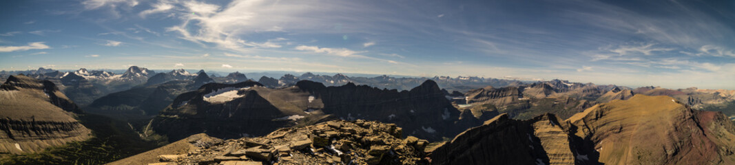 Wall Mural - Summit from Mt. Siyeh, Glacier National Park, Montana