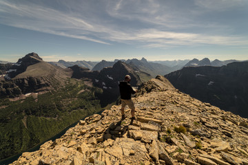 Fototapete - Summit of Mt. Helen, Glacier National Park, Montana