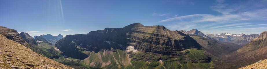 Wall Mural - Beautiful Mountains of Glacier National Park, Montana