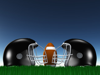 Football Helmet Composition