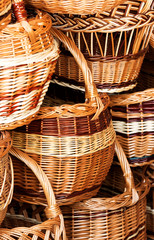 Handmade wicker baskets , Hungary