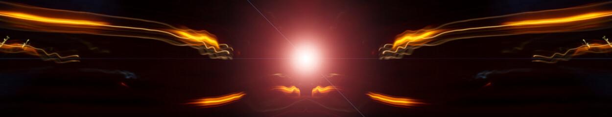 glowing lines in black space Fototapete