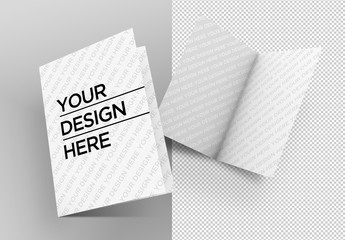 Two Bifold Brochure Mockups