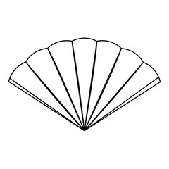 Isolated hand fan image. Vector illustration design