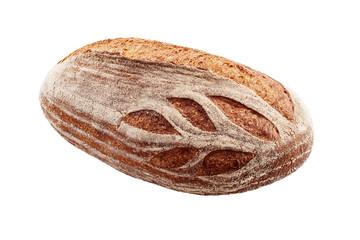 Whole Spelt Freshly Baked Bread isolated on white background