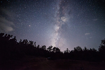 Chopta - Uttrakhand, india, October 10 2018, Milkyway at Deoria tal