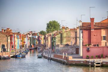 Le case colorate di Burano, Venezia
