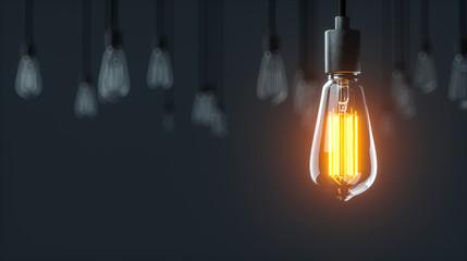 Edison Glühlampen hängen von der Decke