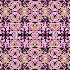 Pink seamless unusual  background. Violet kaleidoskopic design