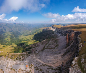 Plateau Bermamyt from the height of the drone clear Sunny day in summer