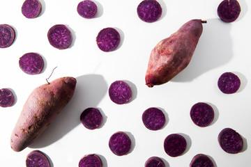 Purple Sweet Potato Slices