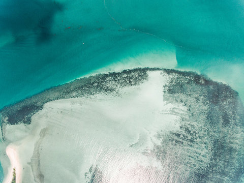 Tropical lagoon in ocean