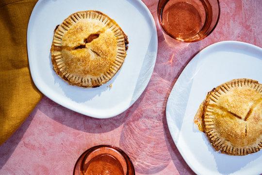 Handmade peach pies