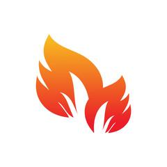 Fire logo design vector template