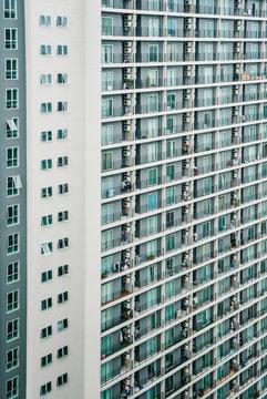 Condominium with numerous apartment