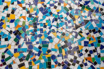 A multicolor mosaic pattern