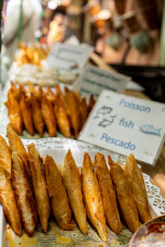 Display of fried fish