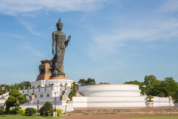 Big Buddha statue in the temple at phutthamonthon province.