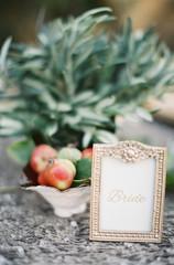 Gold, glamorous wedding decor