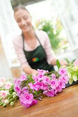 Florist wearing an apron