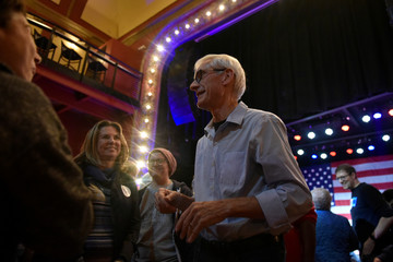 Democratic gubernatorial candidate Tony Evers greets supporters at an election eve rally in Madison, Wisconsin