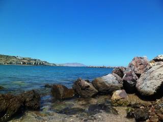 paisaje de playa, paisaje, mar, agua, naturaleza, isla, cielo, color, azul, viajes, turismo, vacaciones, rocas.