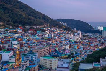 Famous attraction Gamcheon Culture Village, Korea