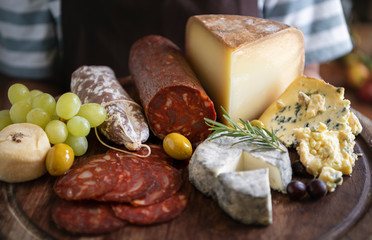 Cold cuts and cheese food photography recipe idea