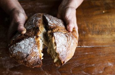 Bread loaf food photography recipe idea
