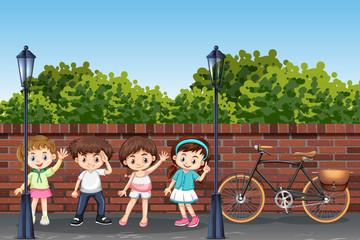 Group of children in street