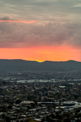 Sunset over Auckland, New Zealand