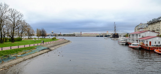River scenery in St. Petersburg, Russia