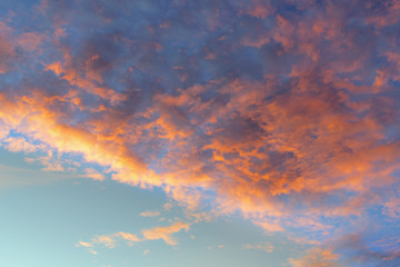 Background with magic of the sky and clouds at dawn, picture use for graphic design, cover, advertising, editor and more