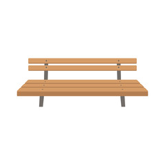 park bench vector illustration flat style