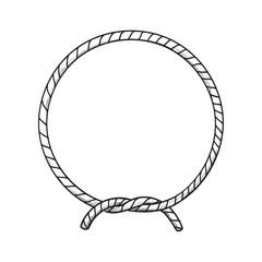 Rope Circle Border Frame Navy