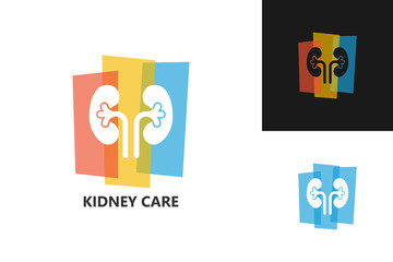Kidney Care Logo Template Design Vector, Emblem, Design Concept, Creative Symbol, Icon