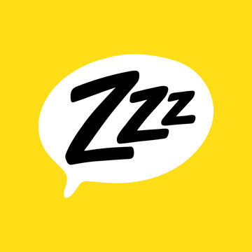 Z-z-z text on text bubble. Icon for sleeping mode