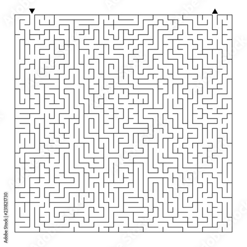 Difficult square maze  Game for kids  Puzzle for children and adult