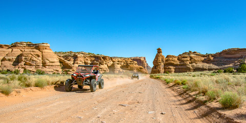 Off roading views on a sunny day in Moab Utah Wall mural