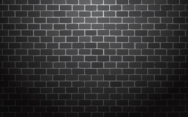 black brick wall vector illustration background