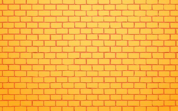yellow brick wall vector illustration background