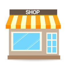 Store shop or market, Vector  illustration background