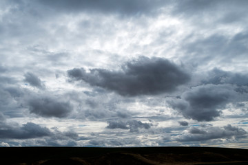 dramatic sky and clouds