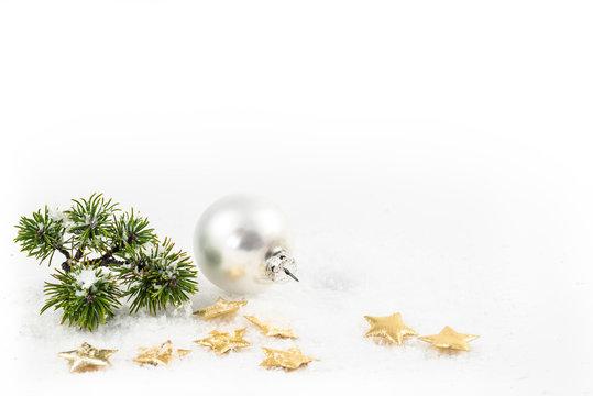Weihnachtsdeko Kugel Sterne Schnee
