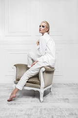 armchair and white colors