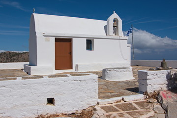 Church on the summit of Profitis Ilias on Karpathos in Greece